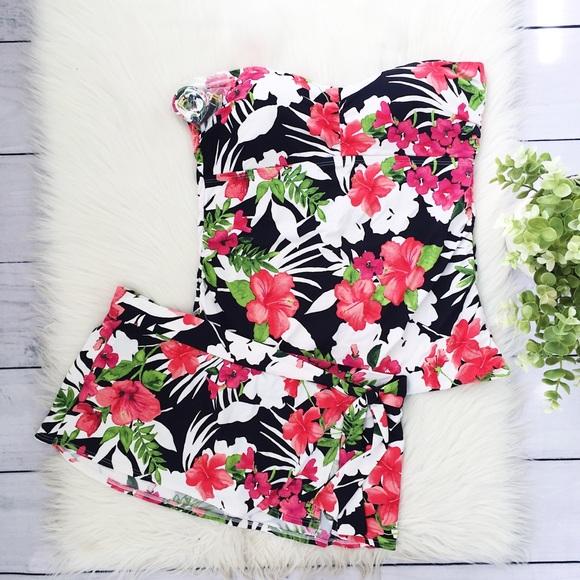 Tommy Bahama Other - NWT Tommy Bahama Black Pink Floral Bathing Suit